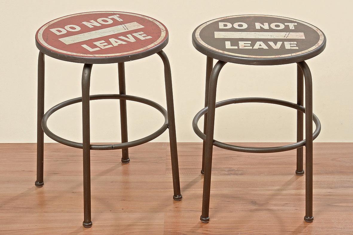 hocker chris 2er set rot schwarz 30 cm metall ebay. Black Bedroom Furniture Sets. Home Design Ideas