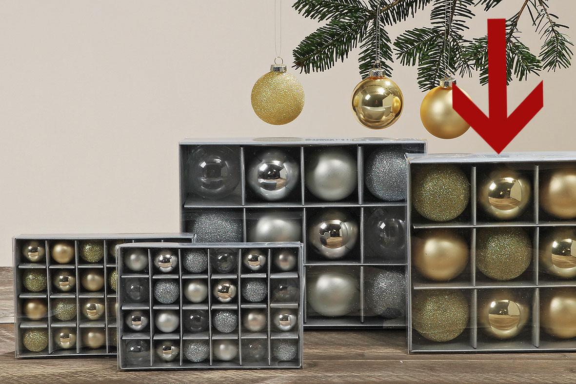 weihnachtsbaumkugeln gold 12teilig glas 6 cm ebay. Black Bedroom Furniture Sets. Home Design Ideas