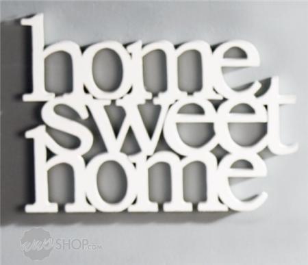 schriftzug home sweet home wei ebay. Black Bedroom Furniture Sets. Home Design Ideas