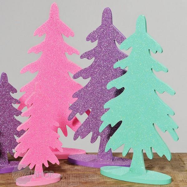 tannenbaum weihnachtsbaum holz 40 cm lila ebay. Black Bedroom Furniture Sets. Home Design Ideas