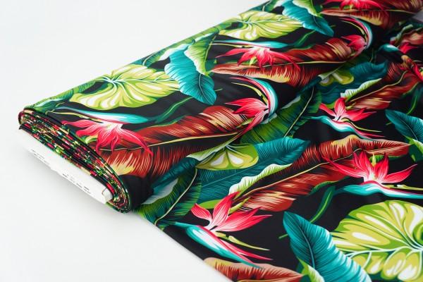 Stoff für Badehosen und Badebekleidung Papageienblüte Lycra 0,5 m