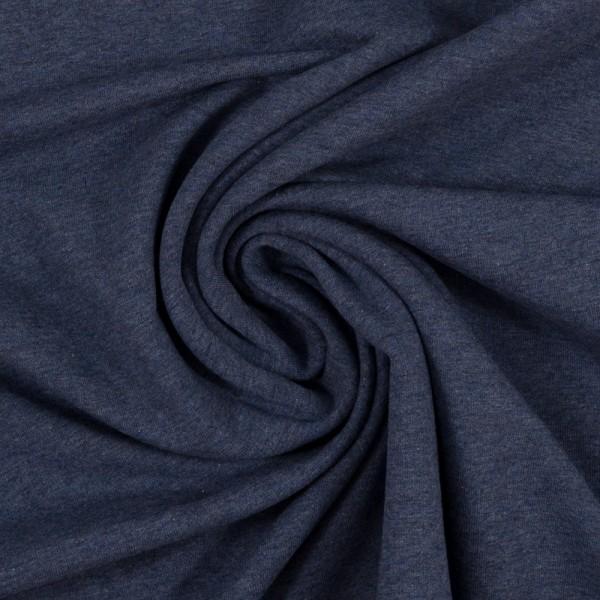Jersey meliert dunkelblau Baumwolljersey 0,5 Meter