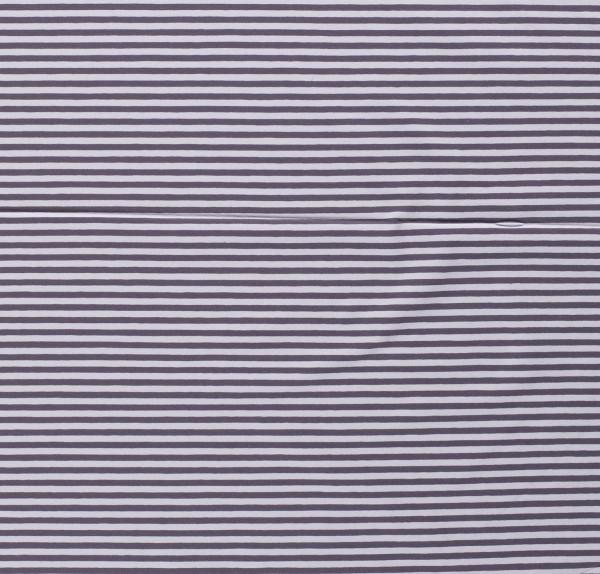 Jersey Baumwolle geringelt gestreift grau 0,5 Meter