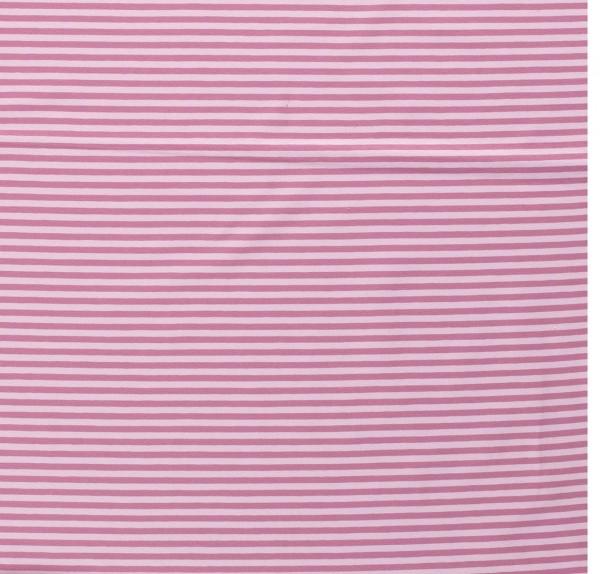 Baumwoll-Jersey Streifen Ringe altrosa 0,5 Meter