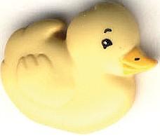 Kinderknopf Ente gelb
