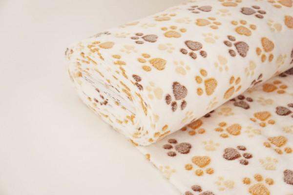 Pfotenabdruck Fleece für Hundebetten, Decken, etc.