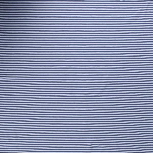 Baumwoll-Jersey Streifen Ringel indigoblau 0,5 Meter
