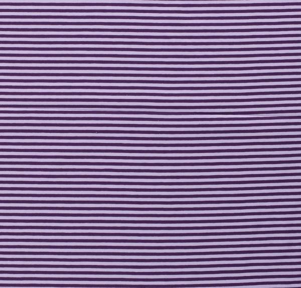 Jersey Baumwolle geringelt gestreift violett flieder 0,5 Meter