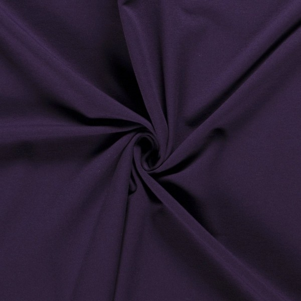 Softjersey Winterjersey lila violett Meterware 0,5 m