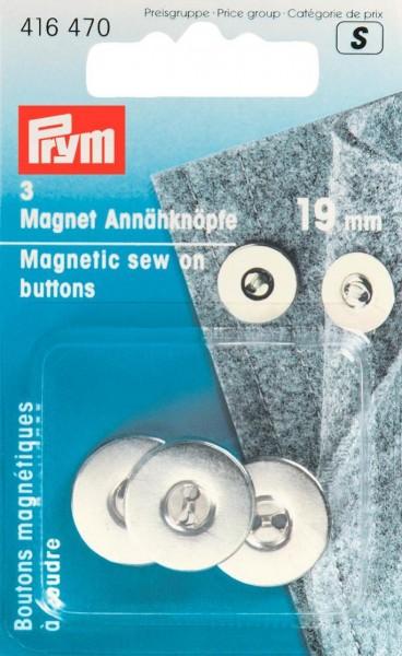 Magnetknöpfe Ø 19 mm in silberfarben