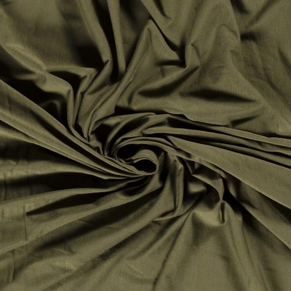 Bambus Jersey khaki grün 0,5 Meter