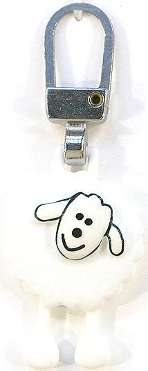 Fashion-Zipper Schaf mit Beinen weiß