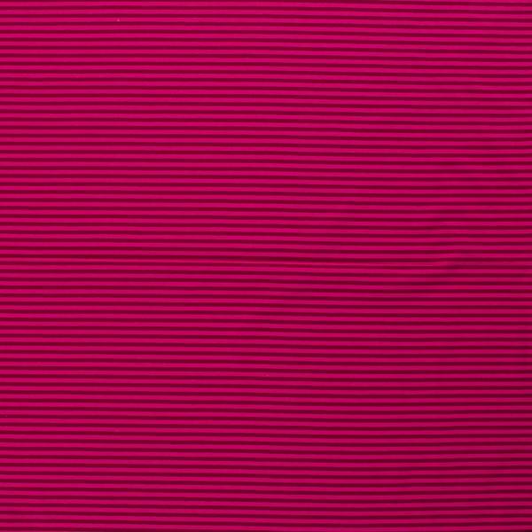 Baumwoll-Jersey Streifen Ringel weinrot pink 0,5 Meter