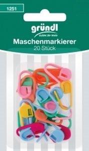 Maschenmarkierer farbmix, Karte mit 2 Stück