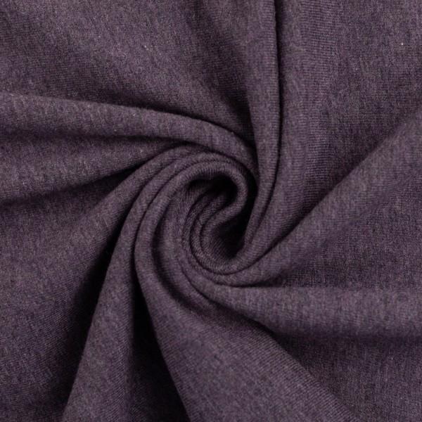 Jersey meliert violett Baumwolljersey 0,5 Meter