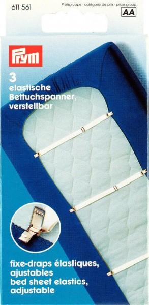 Elastische Bettuchspanner verstellbar weiß