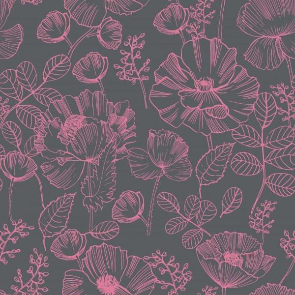 Baumwolljersey-Blumenmuster-Rosa