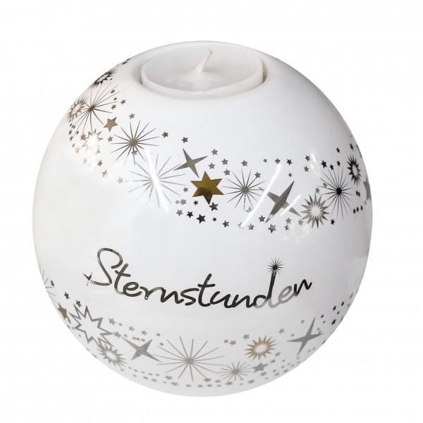 Teelichthalter Leuchter Sternstunden Keramik Ø 11,5 cm