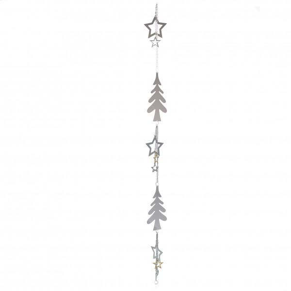 Girlande Weihnachten Sternstunden Sterne Metall vernickelt silber 110 cm
