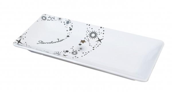 Dekoteller Teller Gebäckteller Sternstunden Keramik weiß 31 cm
