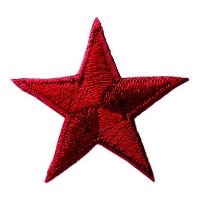 Bügelmotiv Stern Ø 3 cm rot