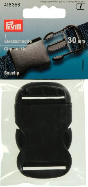 Steckschnalle schwarz 30 mm