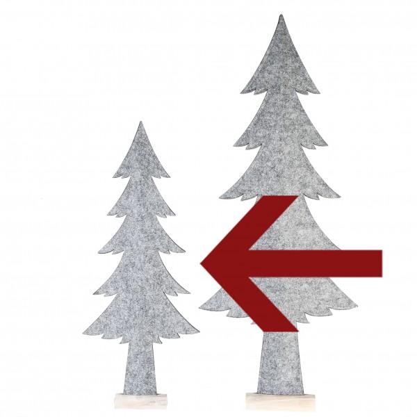 Tanne Weihnachtsdekoration Homely Filz / Holz grau / weiß 83 cm