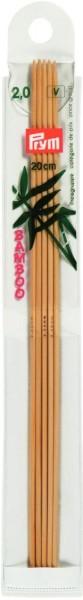 Bambusstricknadeln 20 cm Stärke 2,0 mm