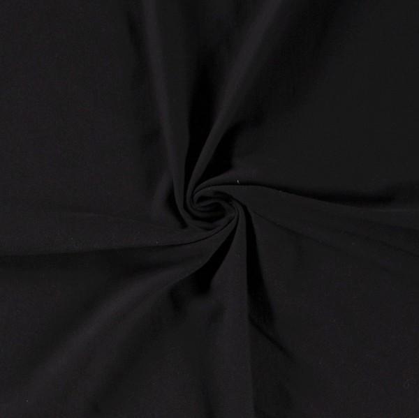 Bio Jersey schwarz 0,5 Meter Organic