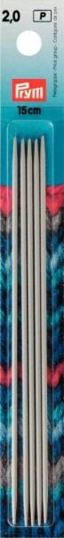 Strumpfstricknadel Alu 15 cm Stärke 2,0 mm