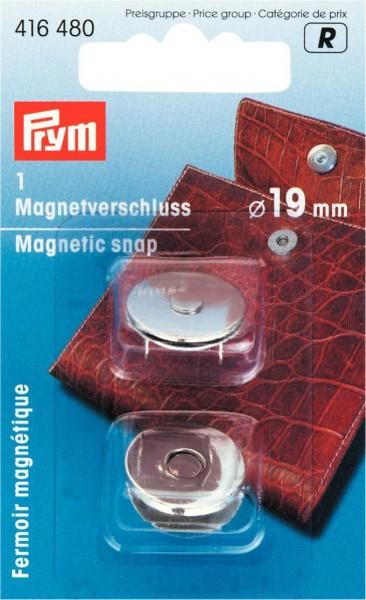 Magnetverschlüsse Ø 19 mm in silberfarben