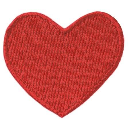 Bügelmotiv Herz rot ca. 3,5 x 3,5 cm.