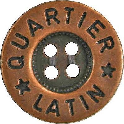 Jeansknöpfe 16 mm Metall kupferfarben zum Annähen.
