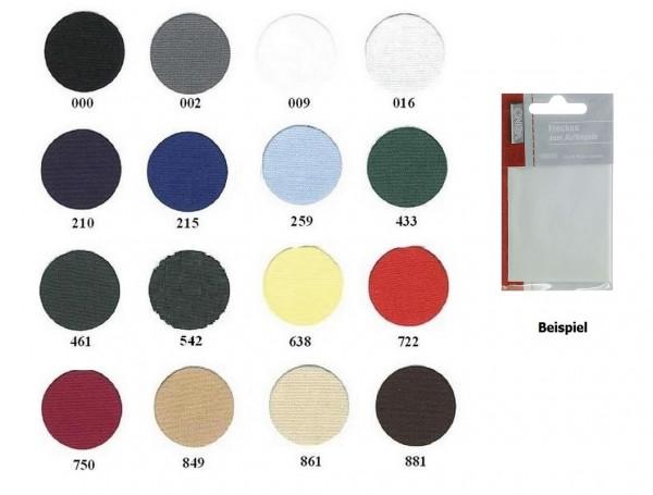 Zephir-Aufbügelflicken 8,5 x 25 cm in 20 Farben
