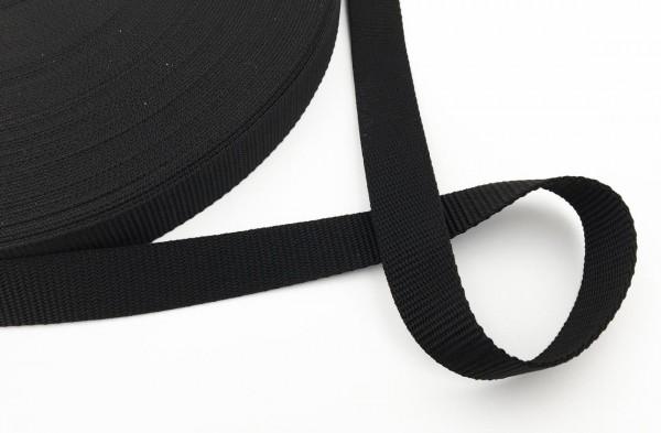 Gurtband schwarz 25 mm 1m Meterware Rucksack Tasche Halsband Geschirr