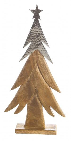 Weihnachtsdeko Weihnachtsbaum Audra Dekobaum Holz Alu 63 cm