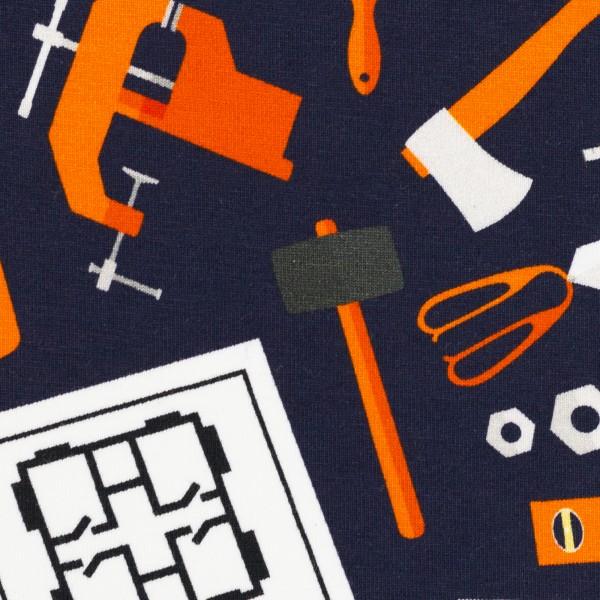 Jersey Werkzeuge dunkelblau 0,5 Meter