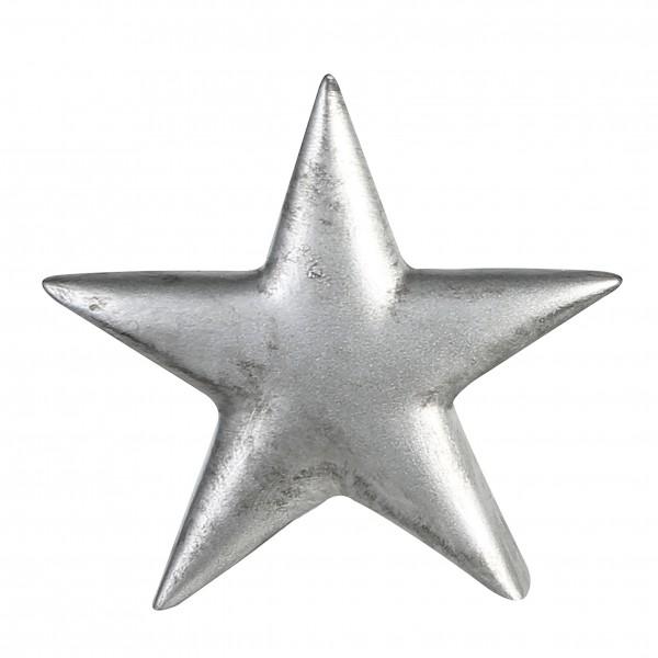 Stern Tischdeko Weihnachten Keramik silber 29 cm