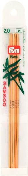 Strumpfstricknadeln Bambus 15 cm Stärke 2,0 mm