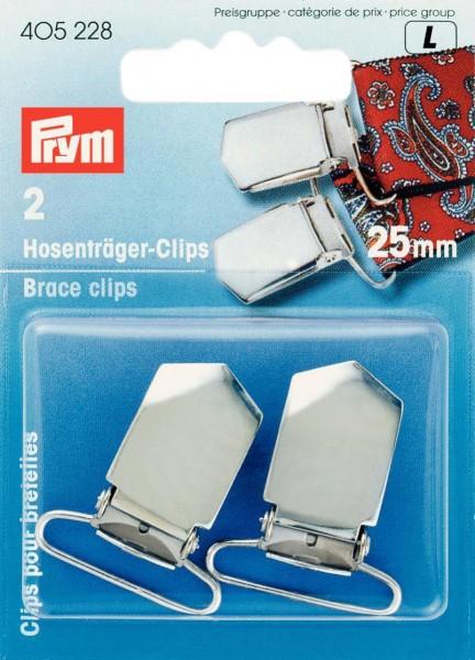 Hosenträger-Clips 25 mm silberfarben