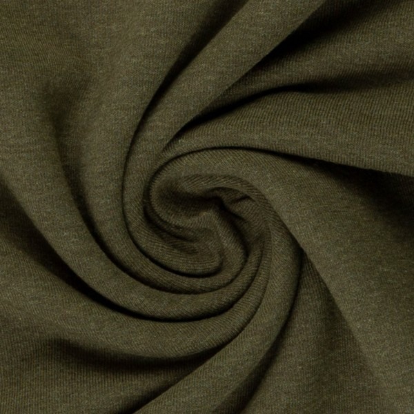 Jersey khaki grün meliert Baumwolljersey 0,5 Meter
