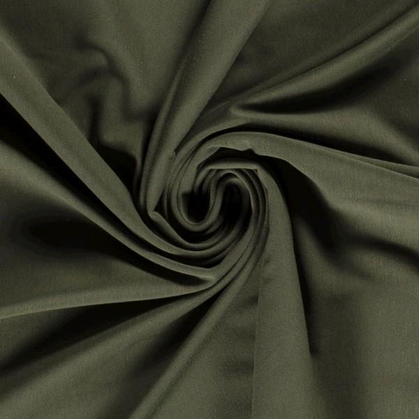 Bio-Jersey khaki grün bio 0,5 Meter Organic Cotton Standard