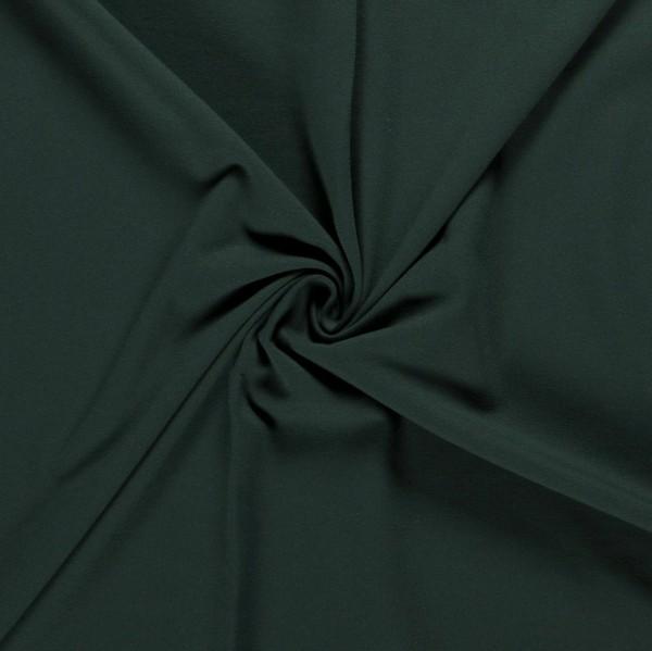 Softjersey Winterjersey grün dunkelgrün Meterware 0,5 m