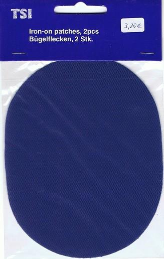 Aufbügelflicken Jeans kornblau