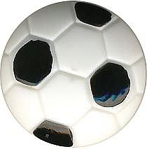 Kinderknopf Fussball schwarz-weiß
