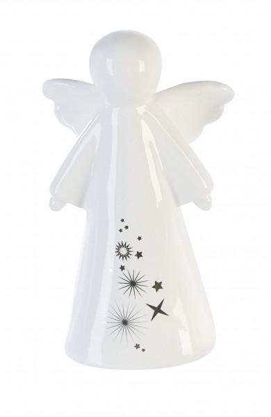Dekofigur Engel Sternstunden Keramik weiß 13 cm