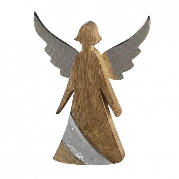 Engel Nobis Dekofigur 20 cm Weihnachten Dekoration Skulptur Echtholz