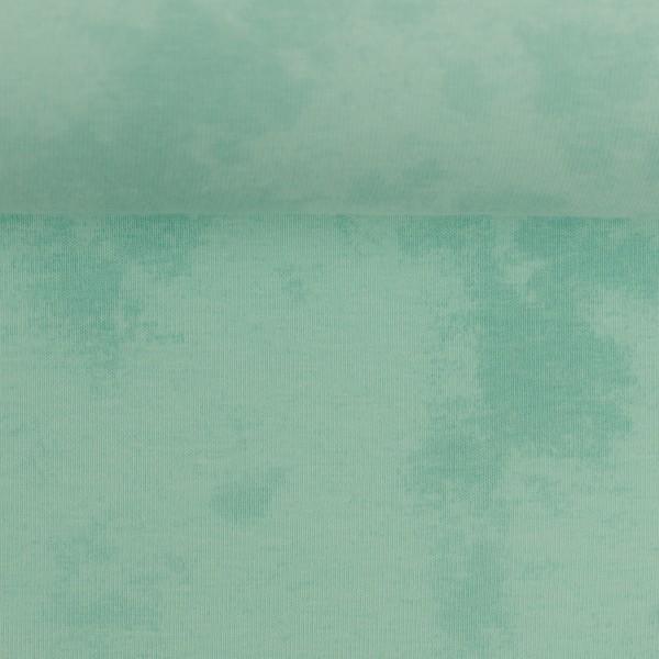 Jersey Batik helles mintgrün Baumwolljersey 0,5 Meter