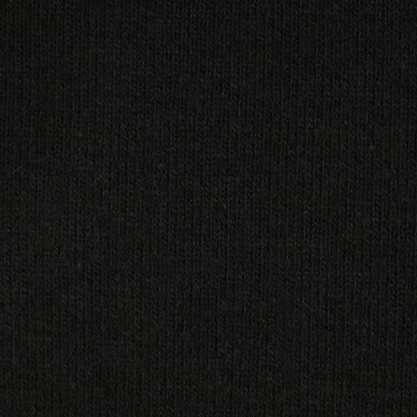 Strickstoff angeraut schwarz zum nähen, superweich, Made in Italy 0,5 Meter