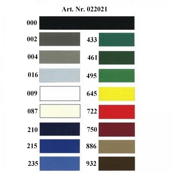 Nahtband 20 mm breit in 9 Farben 100 % Baumwolle.